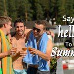 men enjoying summer heat