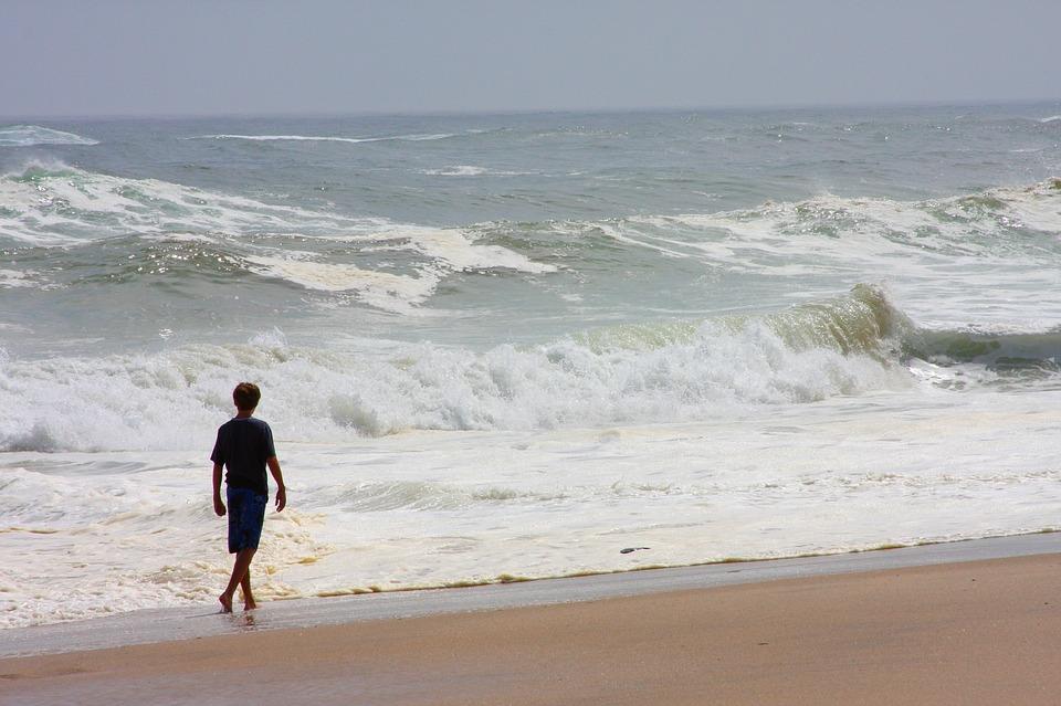 loner on beach