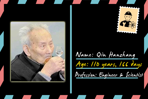 people above 100 years age Qin Hanzhang