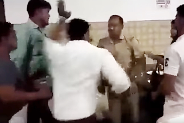 UP Cop Thrashed by BJP Councillor