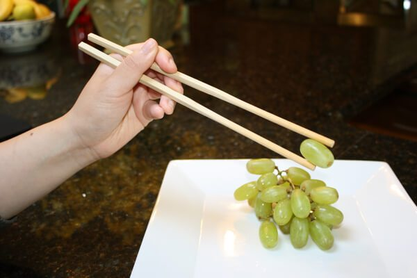 use chopsticks