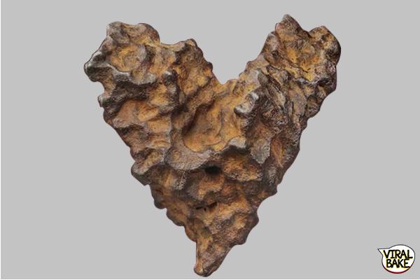 heart-shaped meteorite