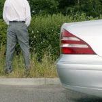 Urinating on roadside