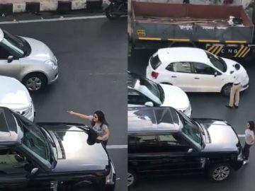 mumbai couple road fight