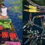 dal lake floating vegetable market