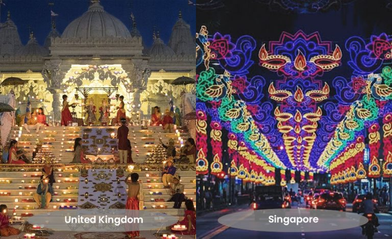 how different countries celebrate Diwali